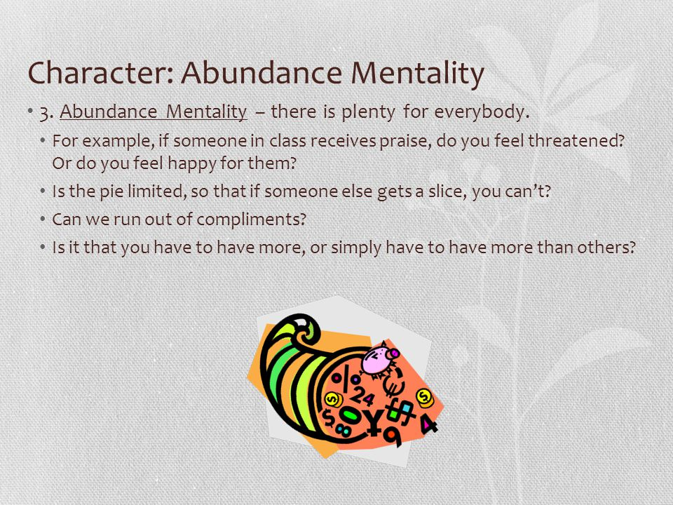 Character: Abundance Mentality