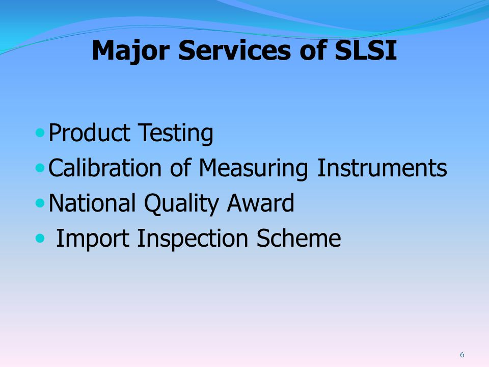 Major Services of SLSI Product Testing