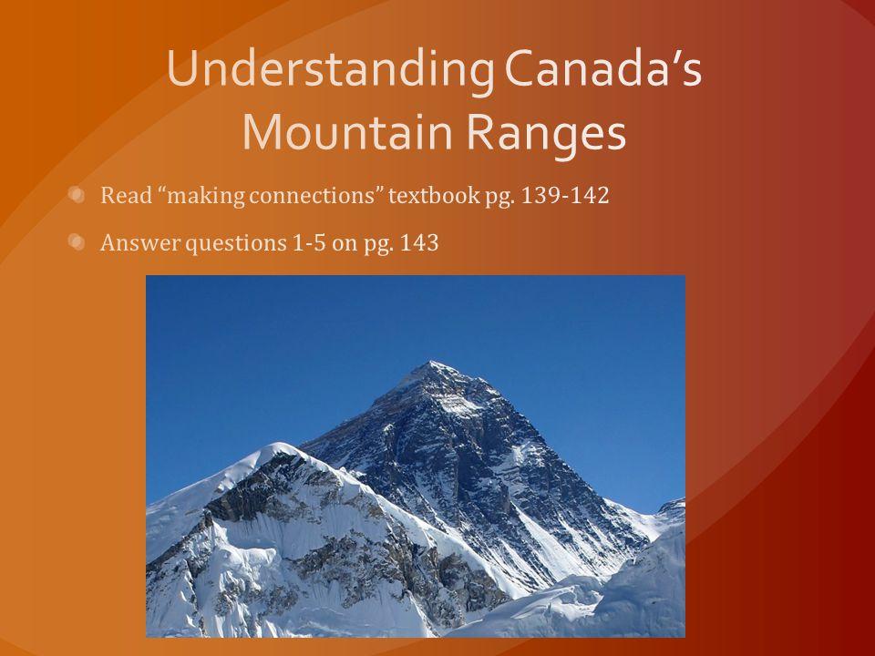 Understanding Canada's Mountain Ranges