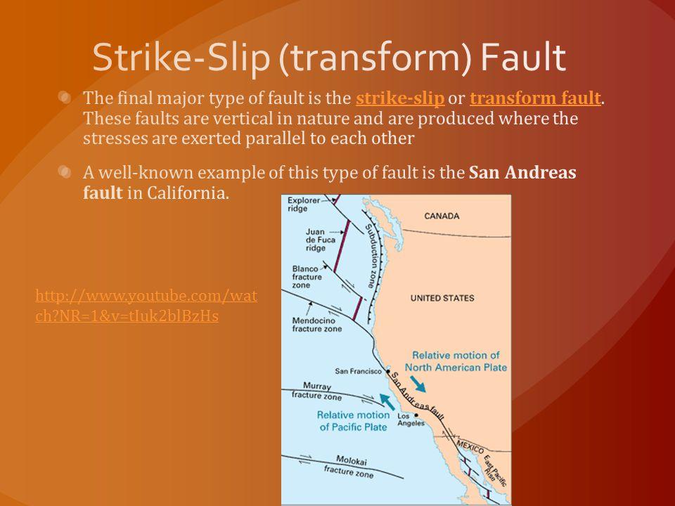 Strike-Slip (transform) Fault