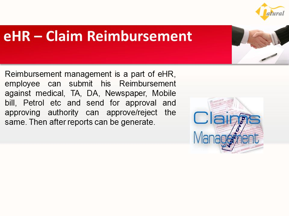 eHR – Claim Reimbursement