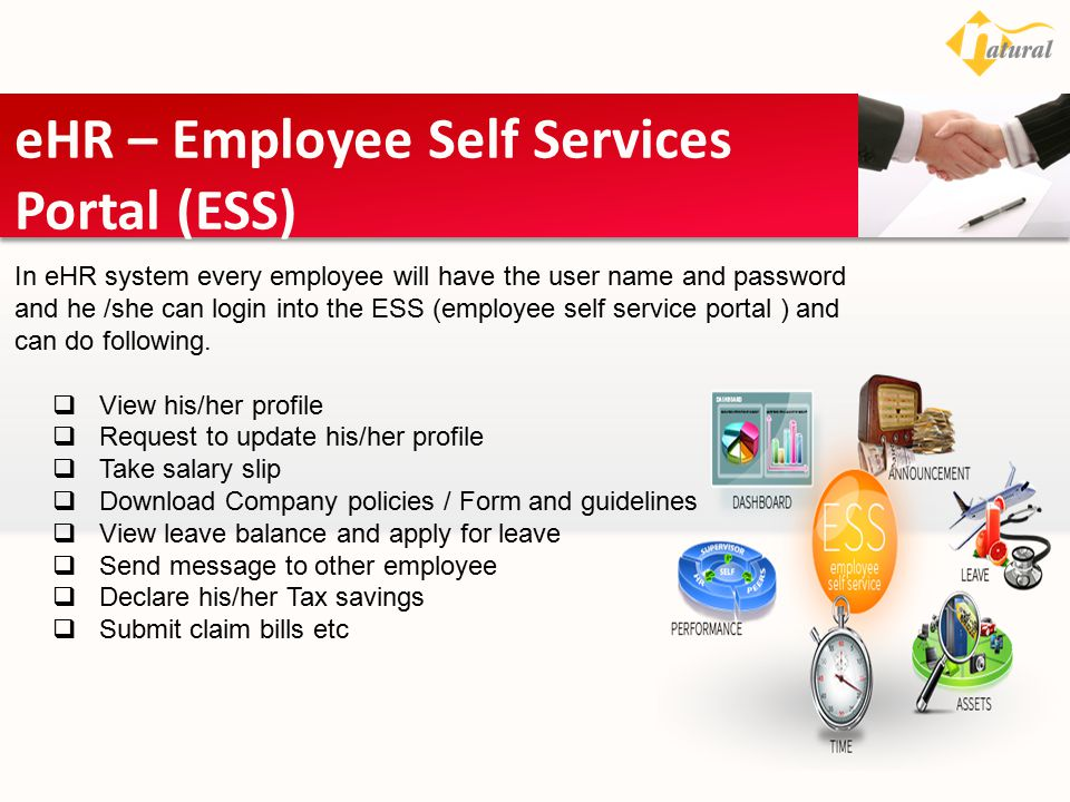 eHR – Employee Self Services Portal (ESS)