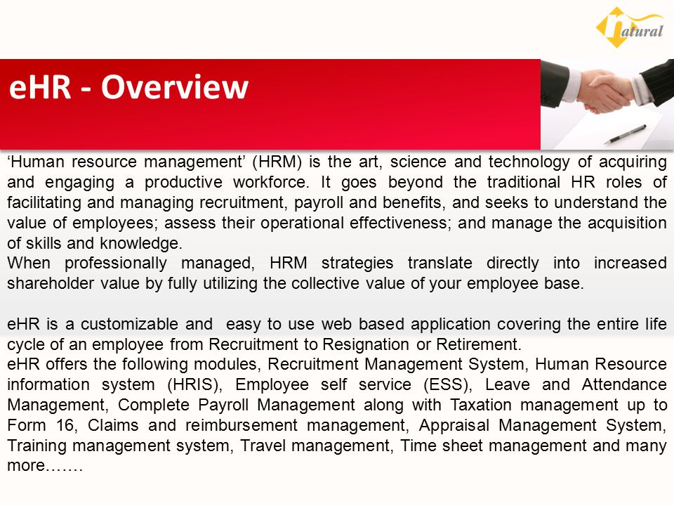 eHR - Overview