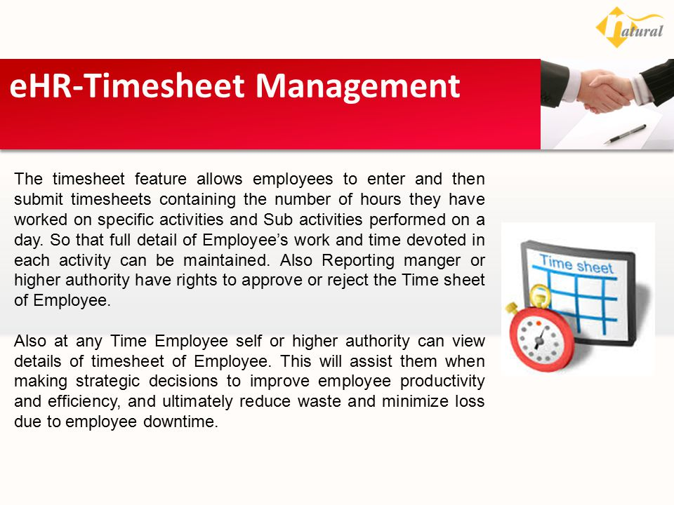 eHR-Timesheet Management