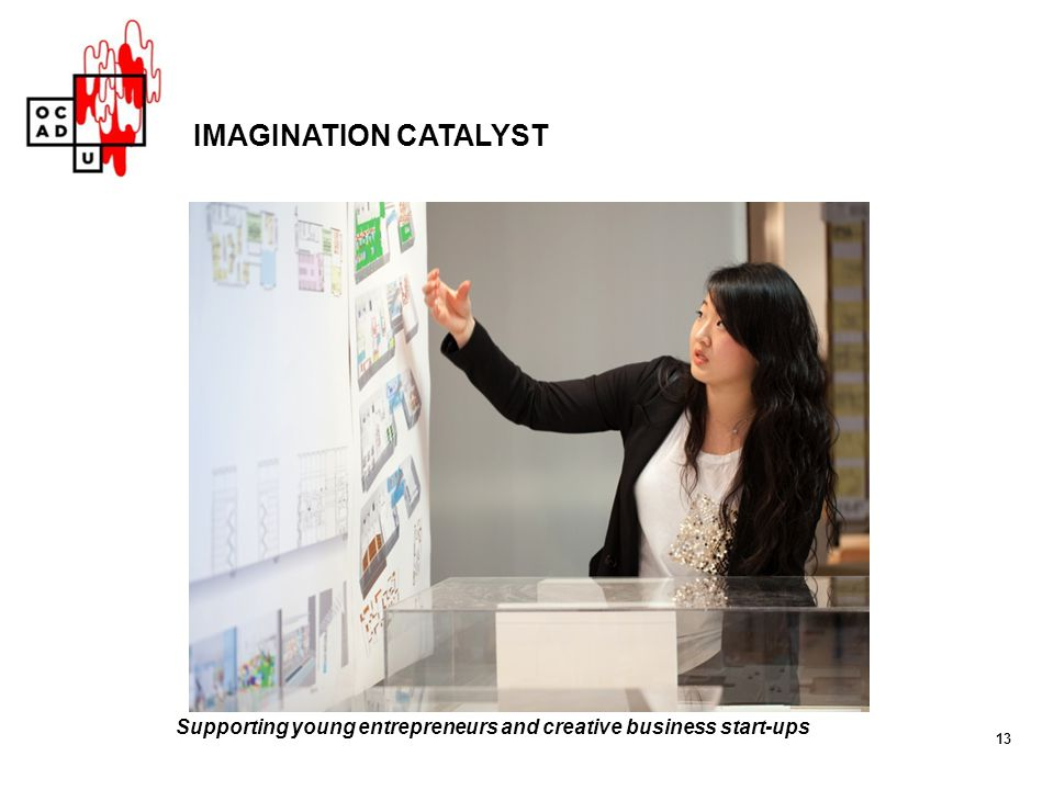 IMAGINATION CATALYST Supporting young entrepreneurs and creative business start-ups 13