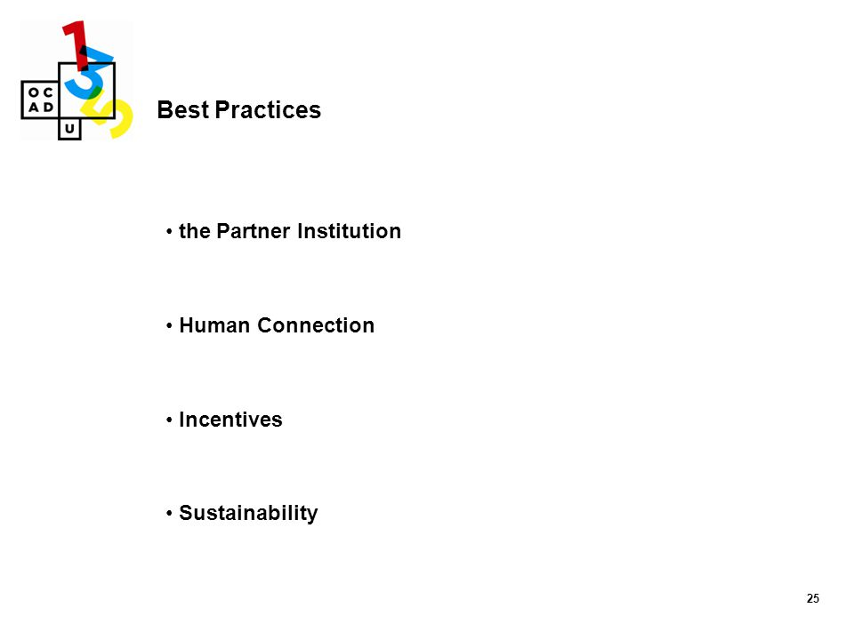 Best Practices the Partner Institution Human Connection Incentives