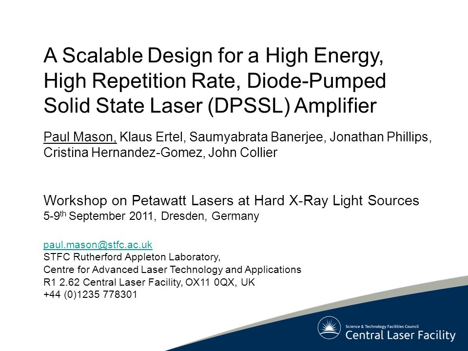 A Scalable Design for a High Energy, High Repetition Rate, Diode-Pumped Solid State Laser (DPSSL) Amplifier