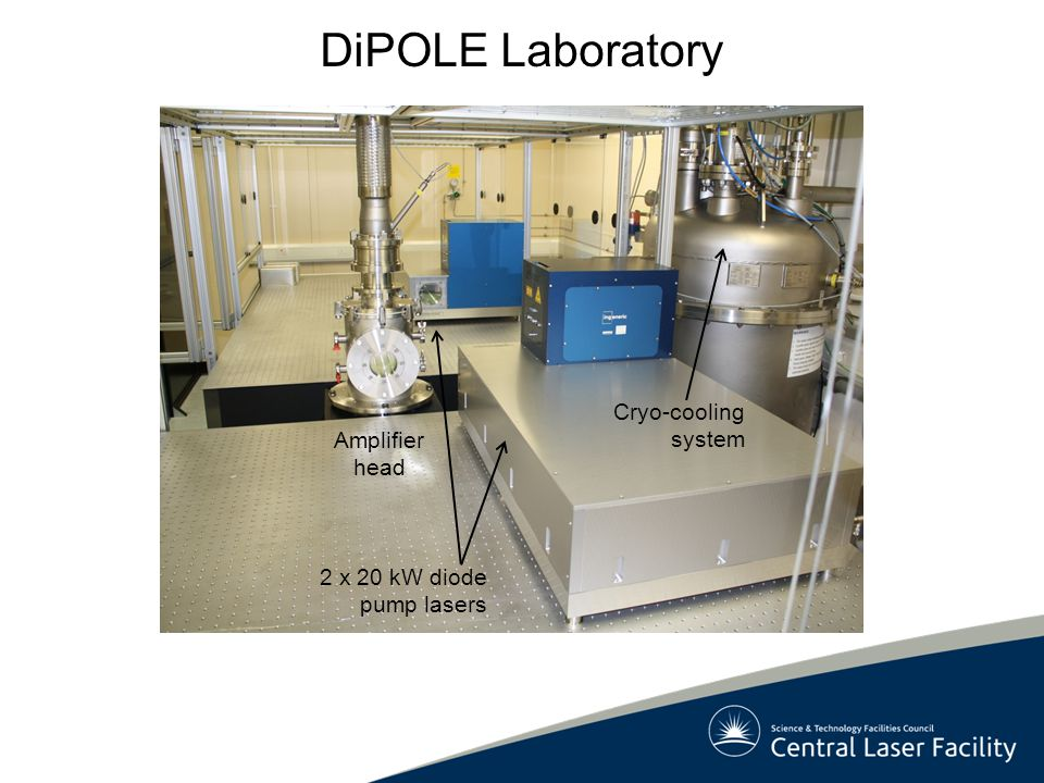 DiPOLE Laboratory Cryo-cooling system Amplifier head
