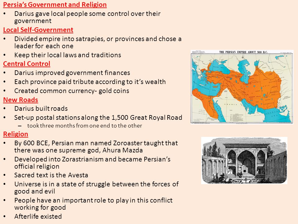 Persia's Government and Religion