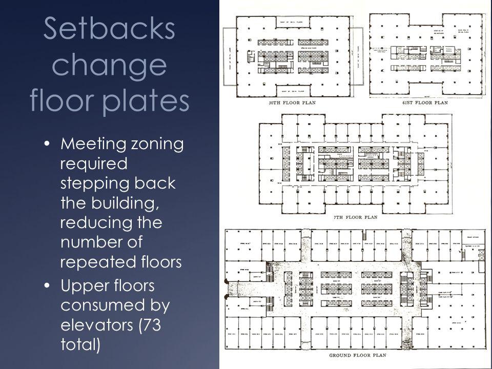 Setbacks change floor plates