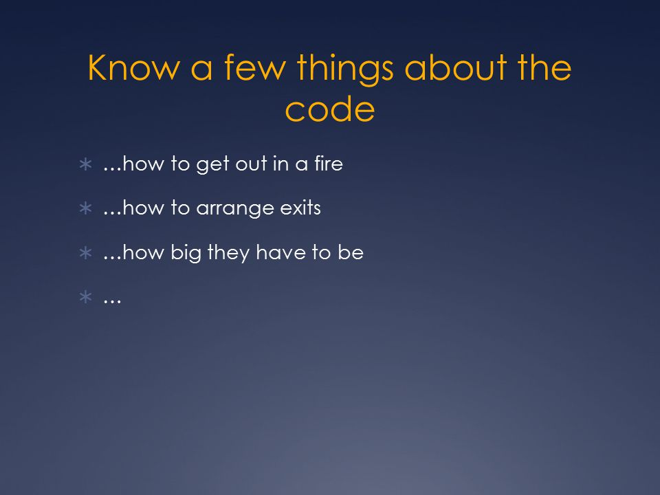 Know a few things about the code