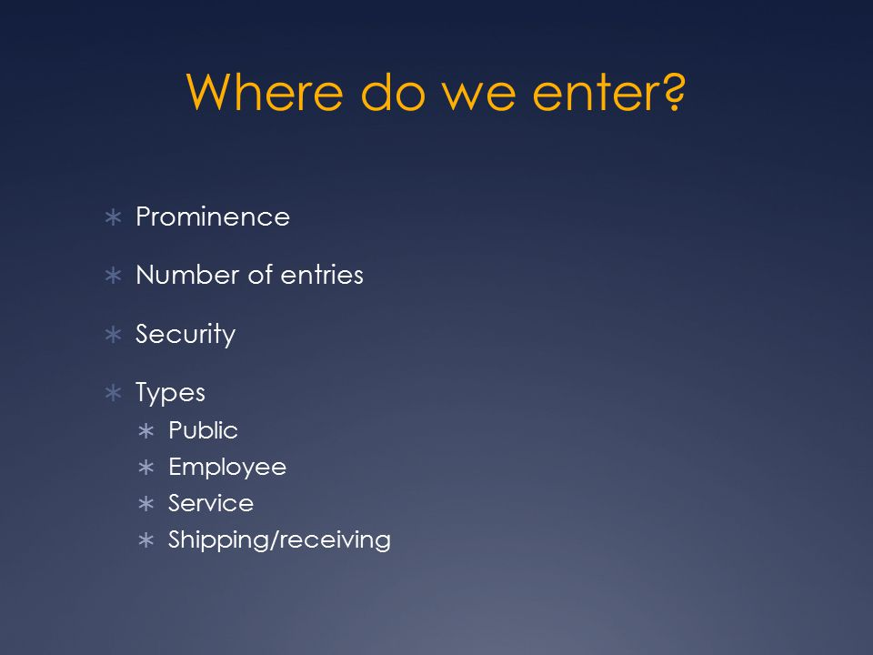 Where do we enter Prominence Number of entries Security Types Public