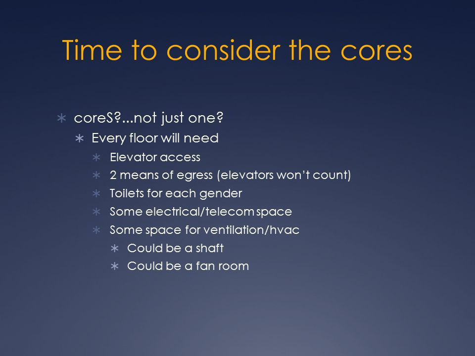 Time to consider the cores