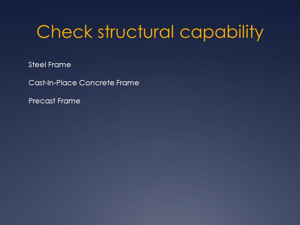 Check structural capability