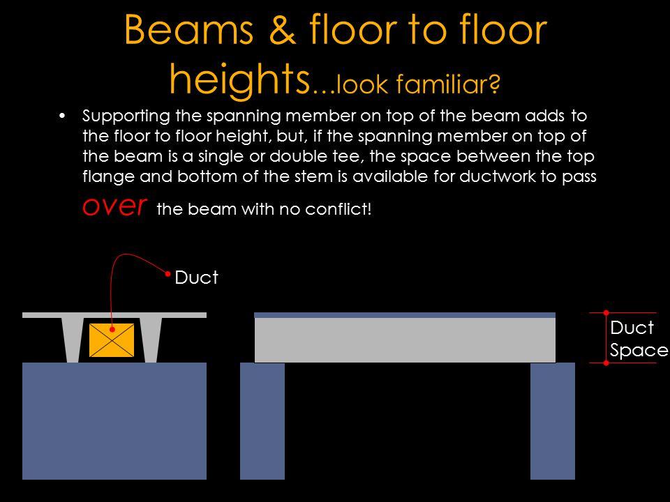 Beams & floor to floor heights…look familiar