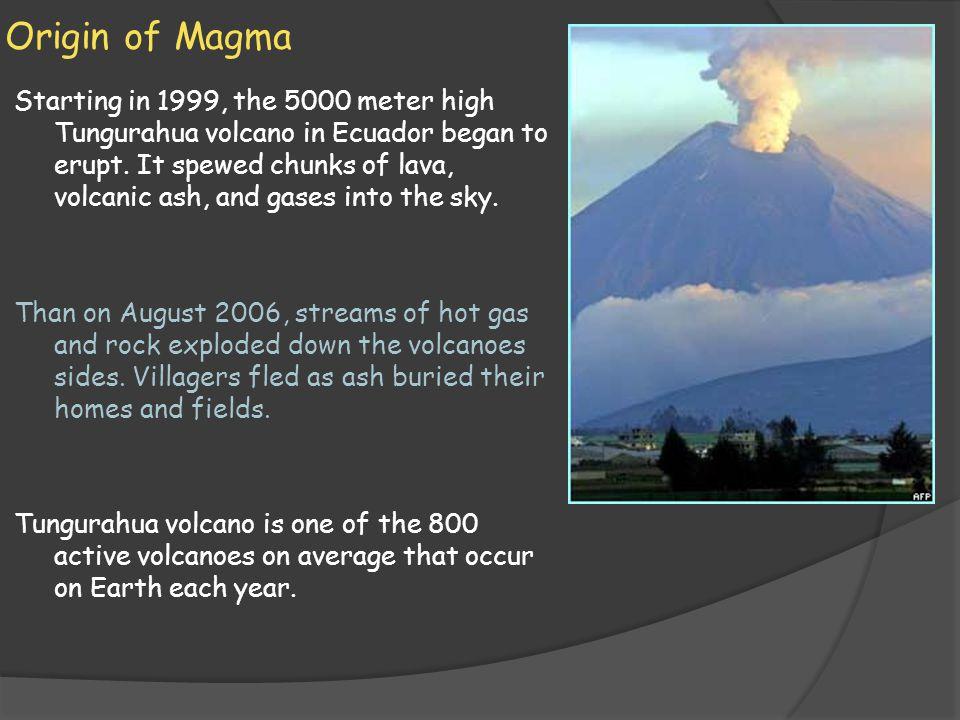 Origin of Magma