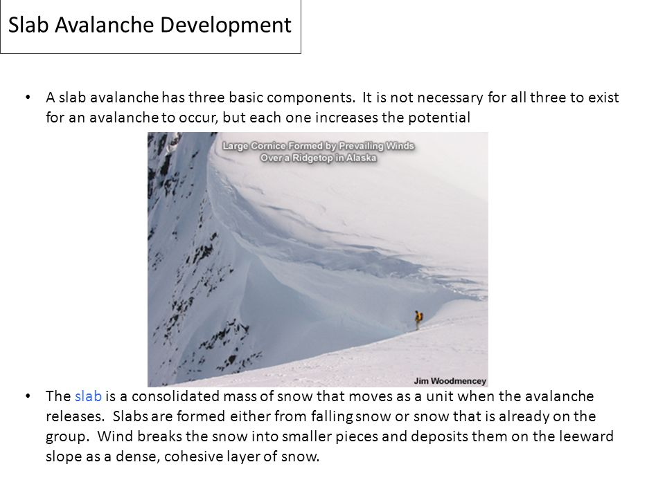 Slab Avalanche Development