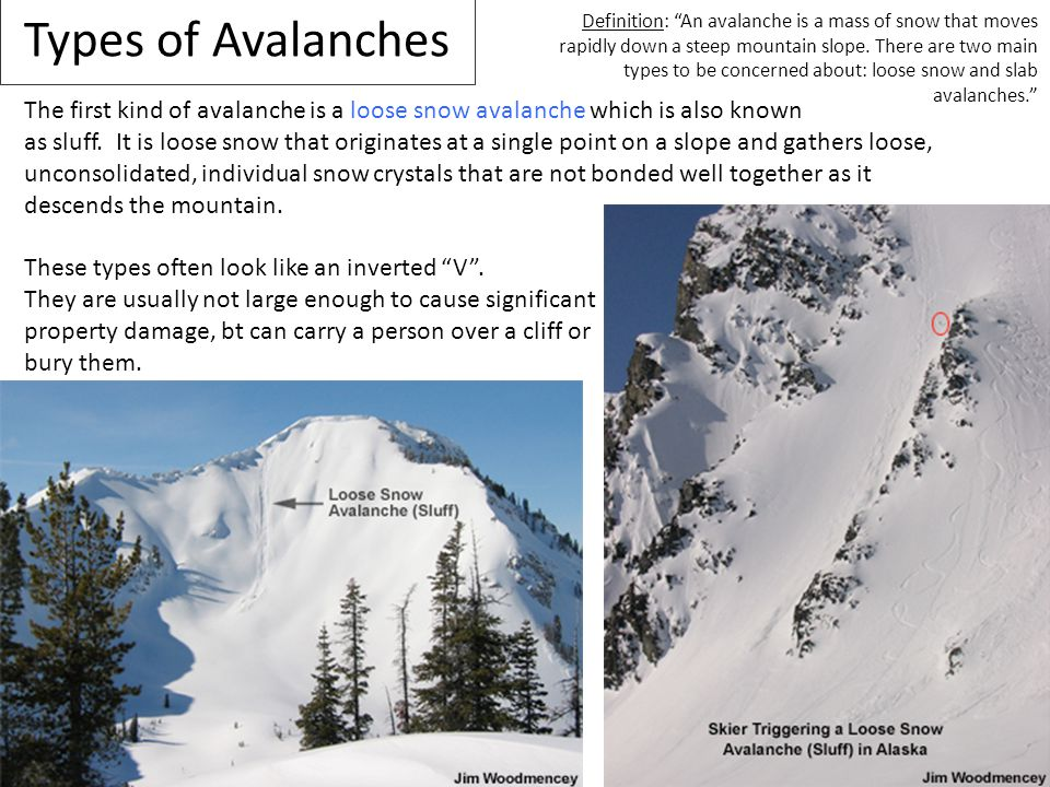 Types of Avalanches