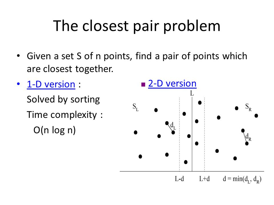 The closest pair problem