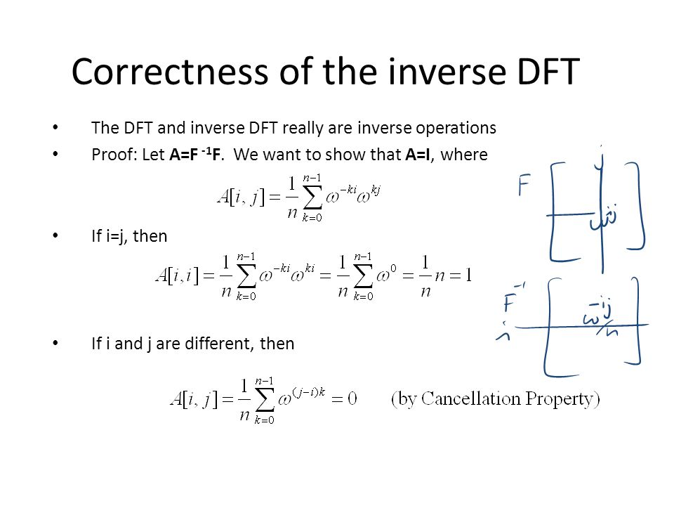 Correctness of the inverse DFT