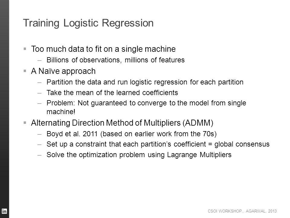 Training Logistic Regression