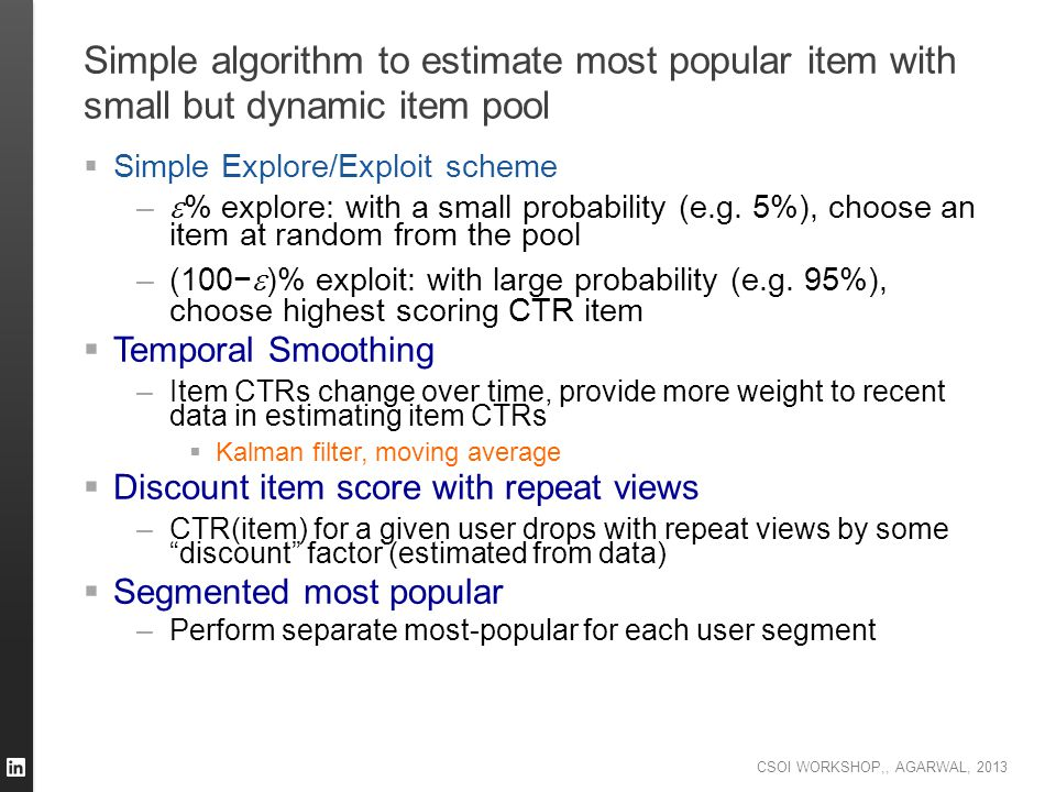 Simple algorithm to estimate most popular item with small but dynamic item pool