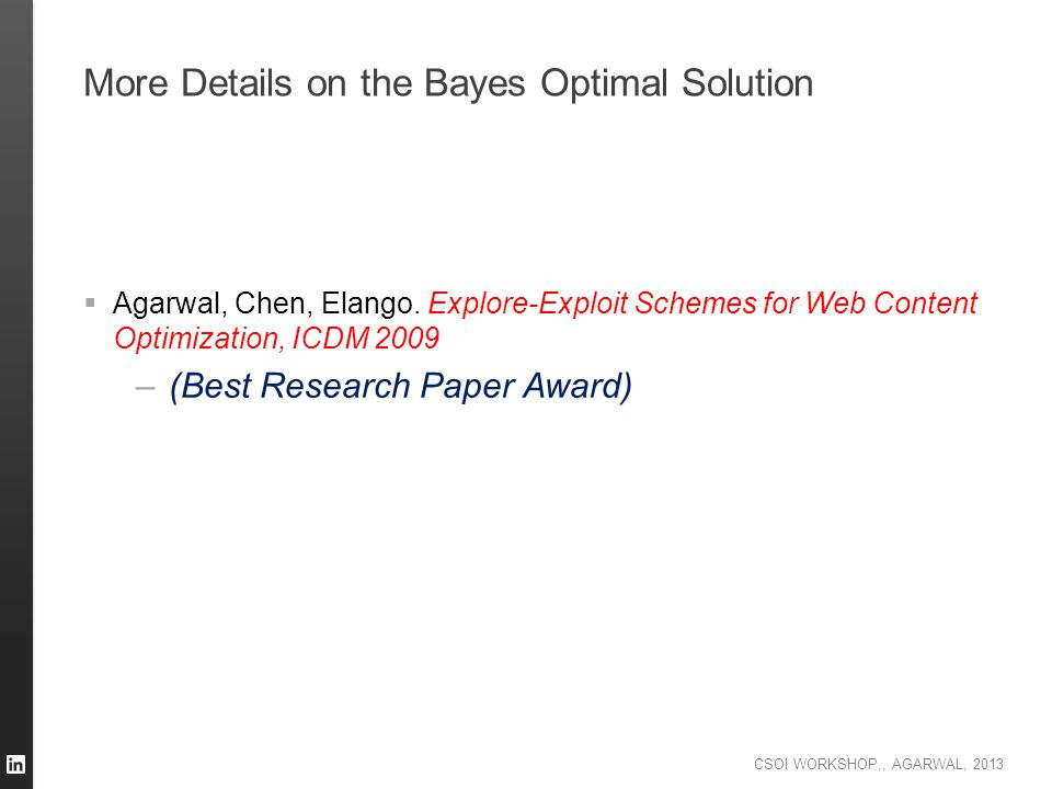 More Details on the Bayes Optimal Solution