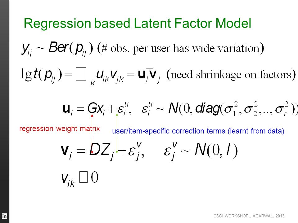Regression based Latent Factor Model