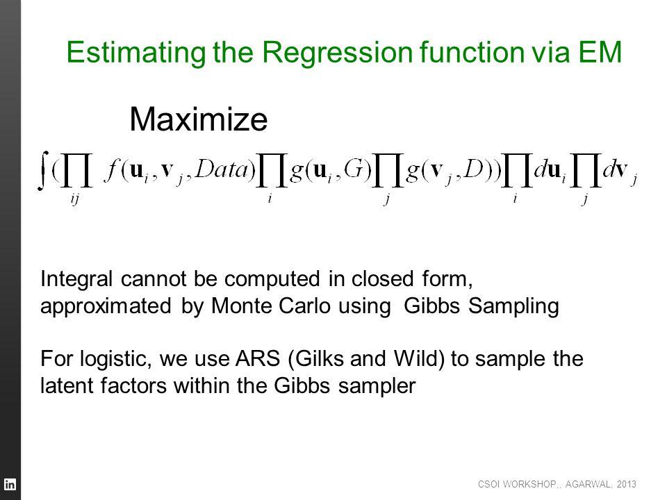 Estimating the Regression function via EM