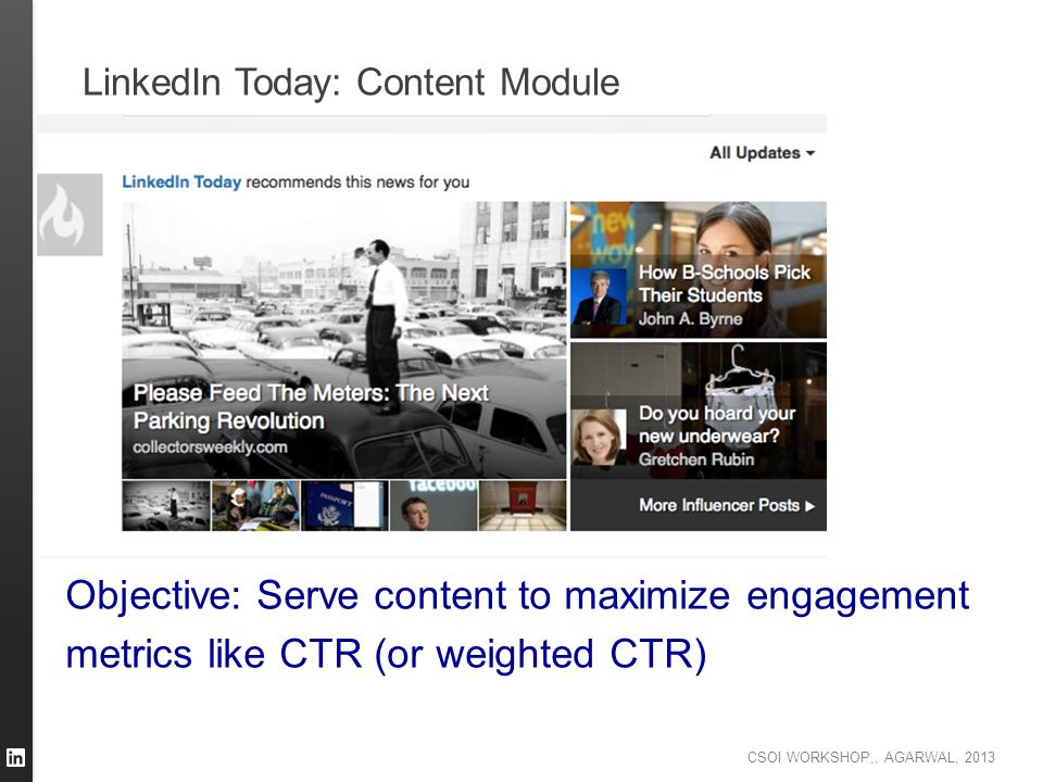 LinkedIn Today: Content Module
