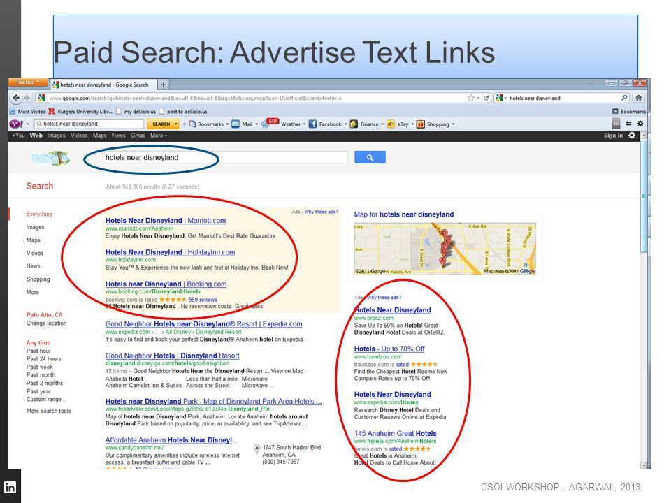 Paid Search: Advertise Text Links