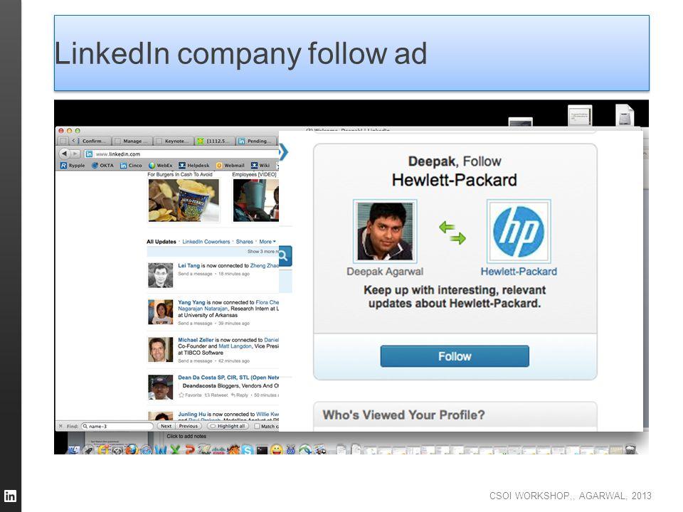 LinkedIn company follow ad