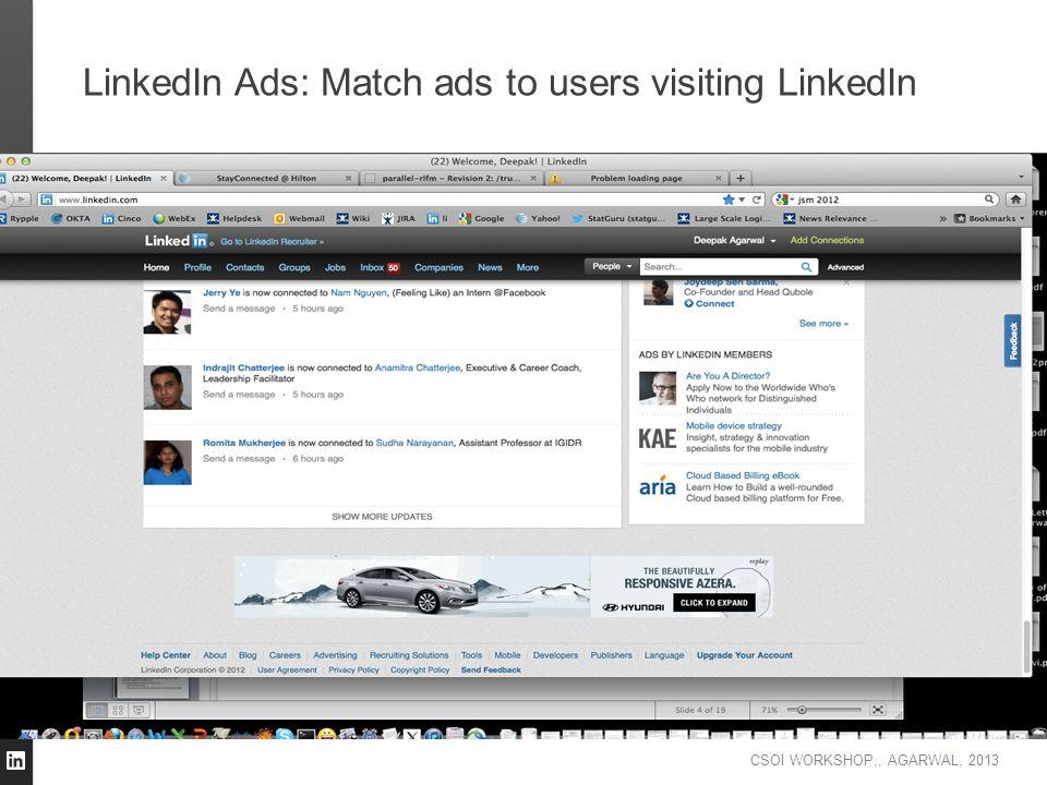 LinkedIn Ads: Match ads to users visiting LinkedIn