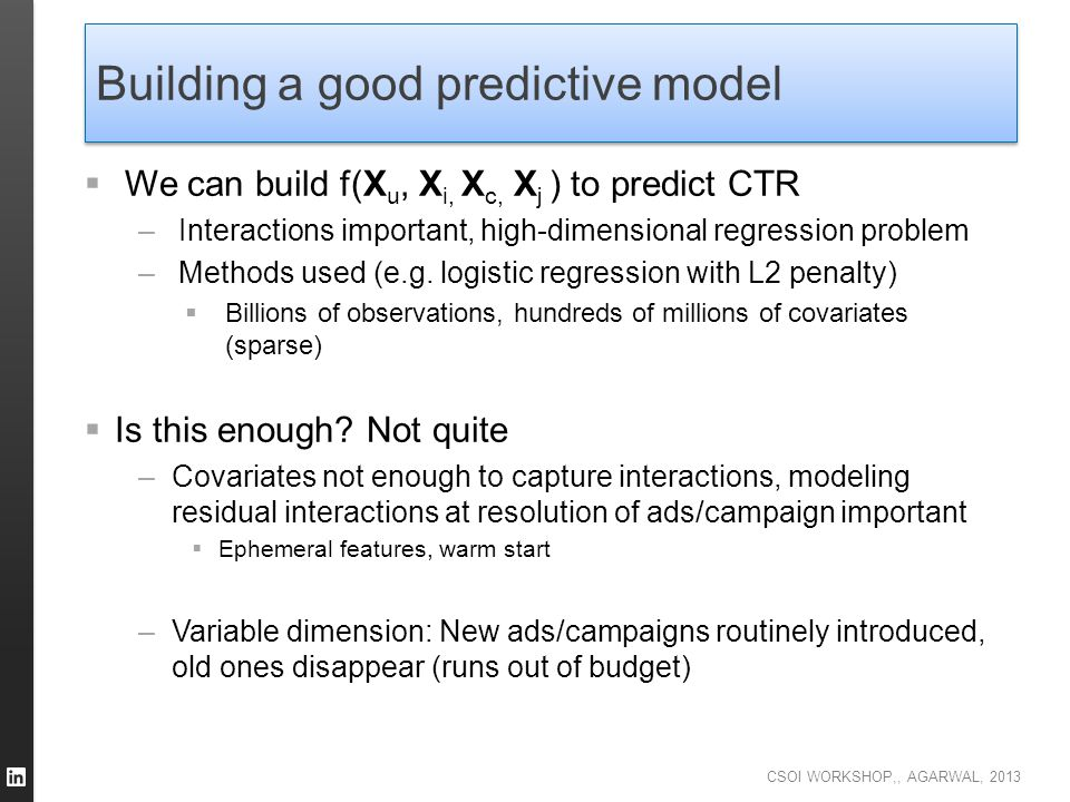 Building a good predictive model