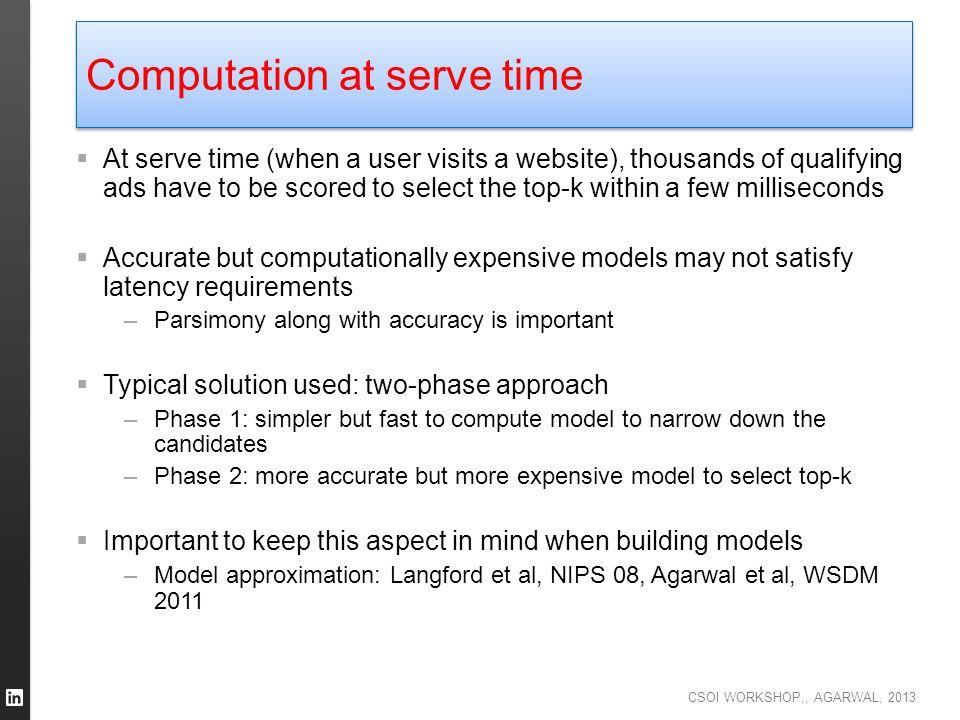 Computation at serve time