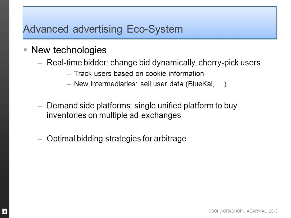 Advanced advertising Eco-System