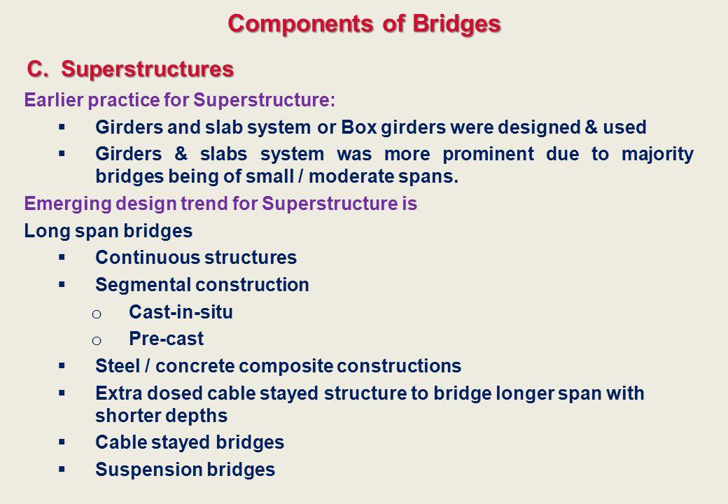 Components of Bridges C. Superstructures