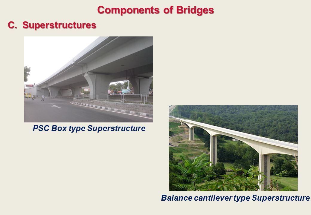 PSC Box type Superstructure Balance cantilever type Superstructure