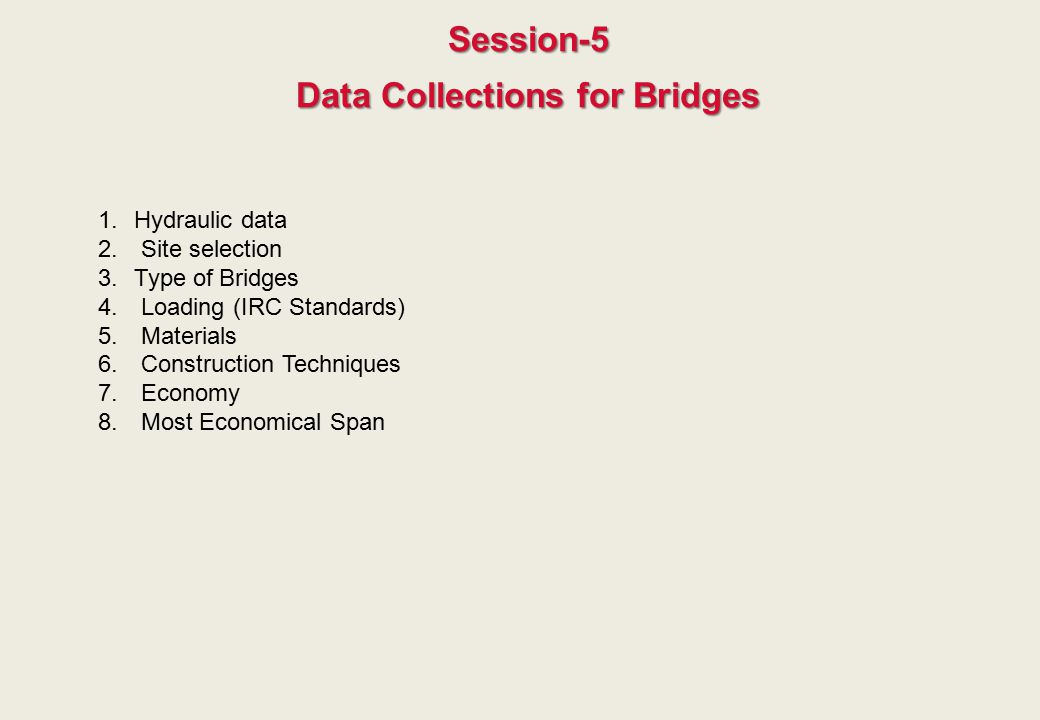 Data Collections for Bridges