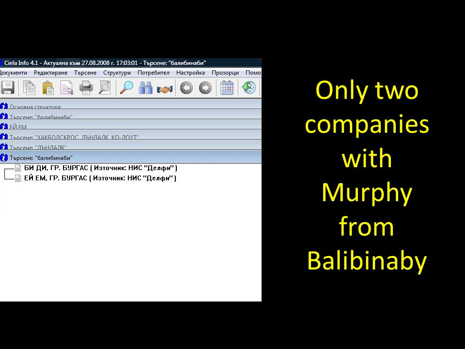 Only two companies with Murphy from Balibinaby