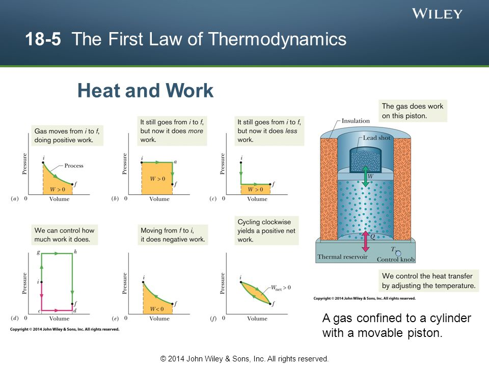 18-5 The First Law of Thermodynamics