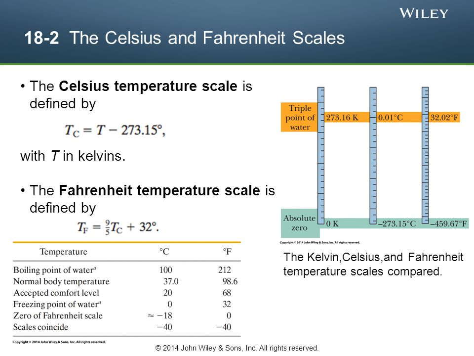18-2 The Celsius and Fahrenheit Scales