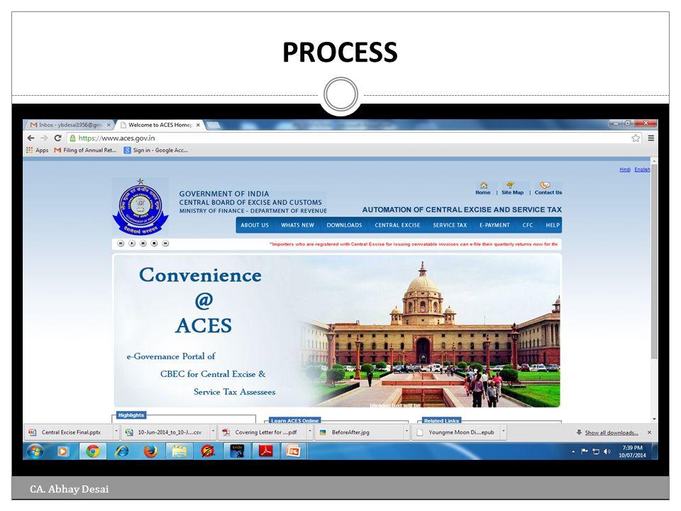 PROCESS CA. Abhay Desai