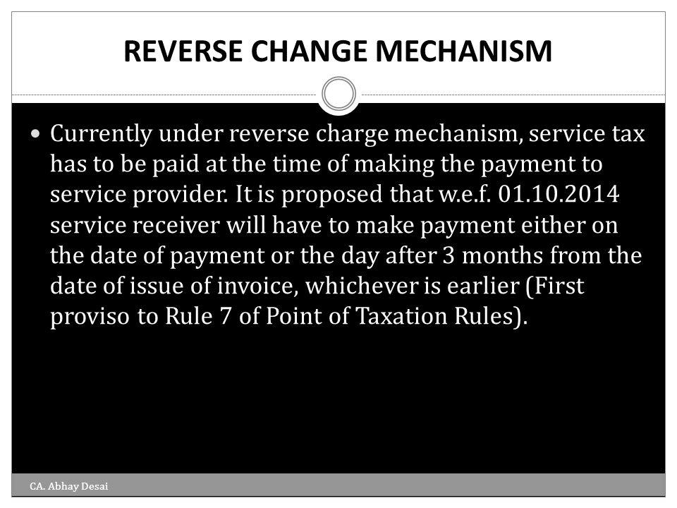 REVERSE CHANGE MECHANISM
