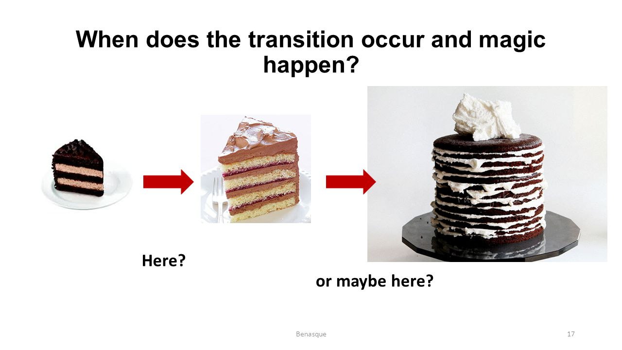 When does the transition occur and magic happen