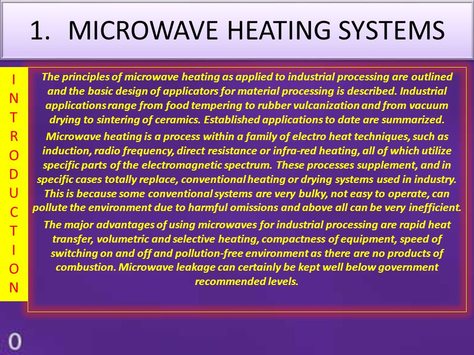 MICROWAVE HEATING SYSTEMS
