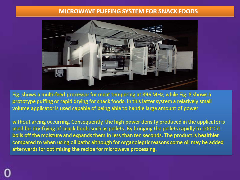MICROWAVE PUFFING SYSTEM FOR SNACK FOODS