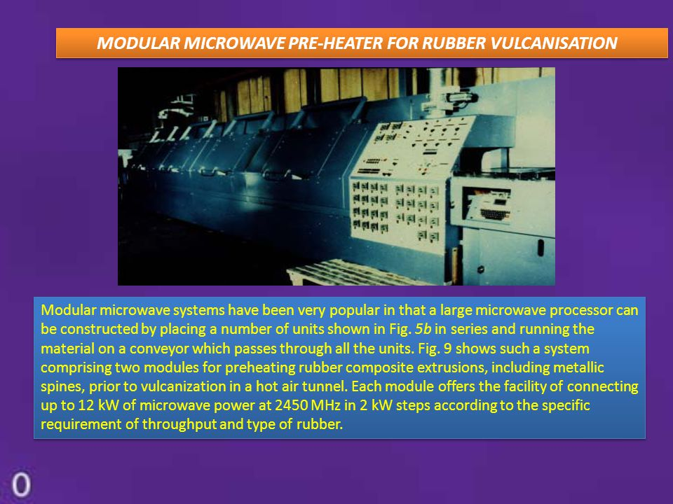 MODULAR MICROWAVE PRE-HEATER FOR RUBBER VULCANISATION