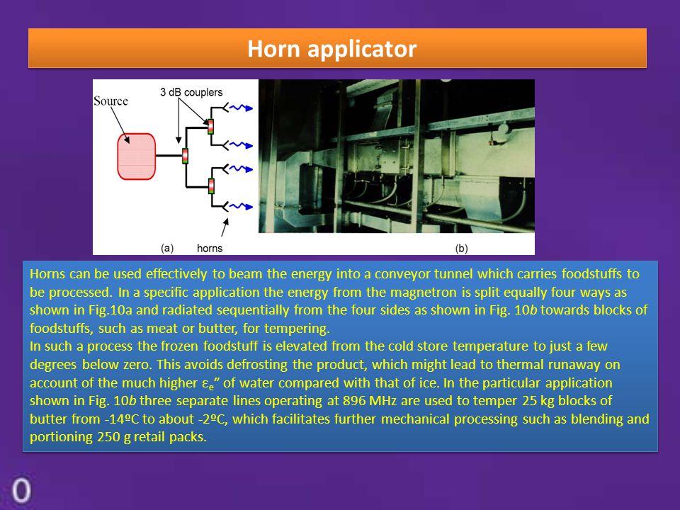 Horn applicator
