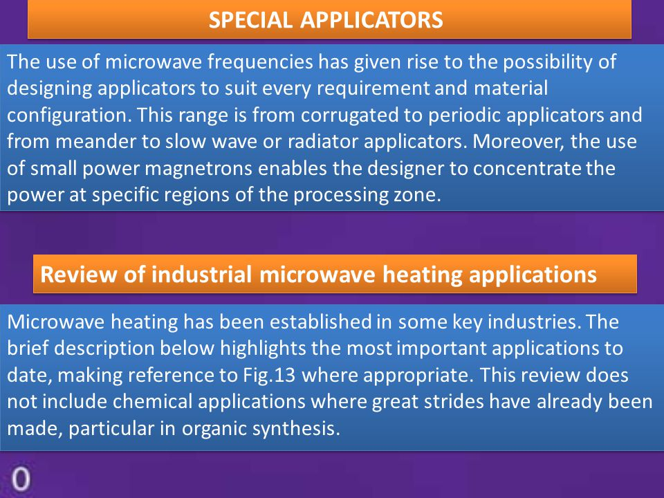 Review of industrial microwave heating applications